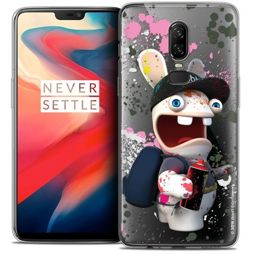 """Coque Gel OnePlus 6 (6.28"""") Extra Fine Lapins Crétins™ - Painter"""