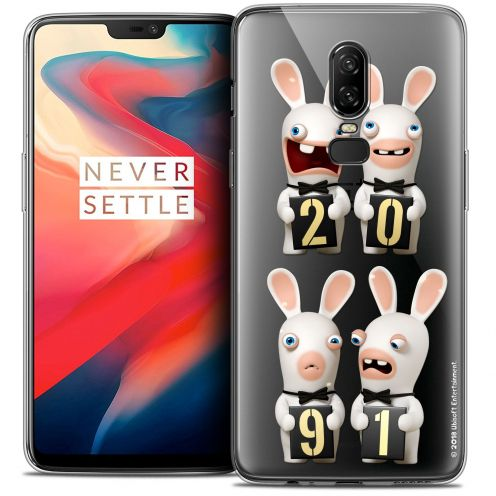 """Coque Gel OnePlus 6 (6.28"""") Extra Fine Lapins Crétins™ - New Year"""