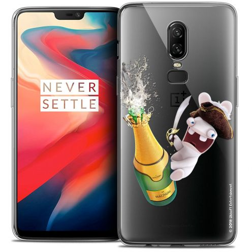 """Coque Gel OnePlus 6 (6.28"""") Extra Fine Lapins Crétins™ - Champagne !"""