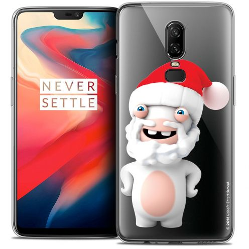 """Coque Gel OnePlus 6 (6.28"""") Extra Fine Lapins Crétins™ - Lapin Noël"""