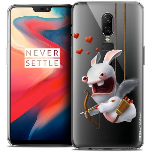 "Coque Gel OnePlus 6 (6.28"") Extra Fine Lapins Crétins™ - Flying Cupidon"