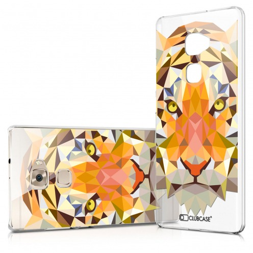 Zoom sur Coque Crystal Huawei Mate S Extra Fine Polygon Animals - Tigre
