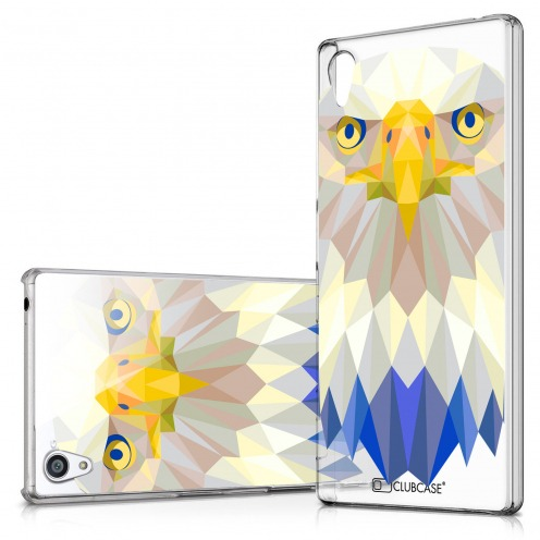 Zoom sur Coque Crystal Xperia Z5 Extra Fine Polygon Animals - Aigle