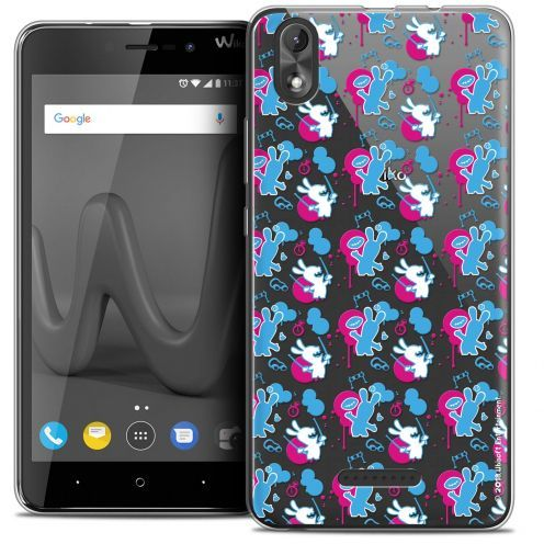 """Coque Gel Wiko Lenny 4 PLUS (5.5"""") Extra Fine Lapins Crétins™ - Rugby Pattern"""