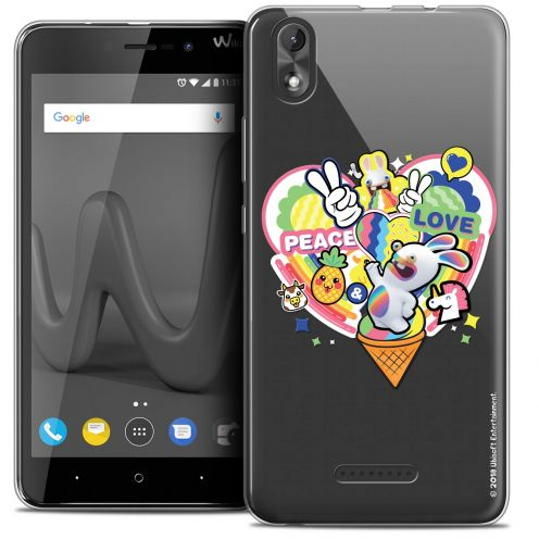 """Coque Gel Wiko Lenny 4 PLUS (5.5"""") Extra Fine Lapins Crétins™ - Peace And Love"""