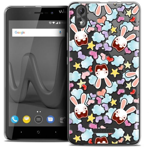 """Coque Gel Wiko Lenny 4 PLUS (5.5"""") Extra Fine Lapins Crétins™ - Love Pattern"""