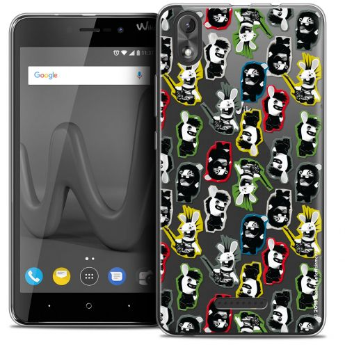 """Coque Gel Wiko Lenny 4 PLUS (5.5"""") Extra Fine Lapins Crétins™ - Punk Pattern"""