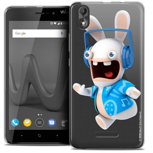 """Coque Gel Wiko Lenny 4 PLUS (5.5"""") Extra Fine Lapins Crétins™ - Techno Lapin"""