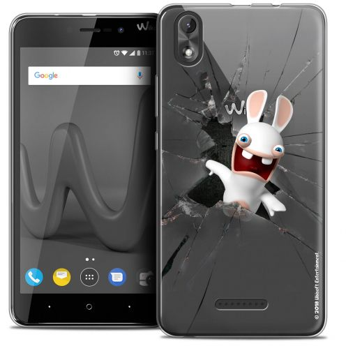 """Coque Gel Wiko Lenny 4 PLUS (5.5"""") Extra Fine Lapins Crétins™ - Breaking Glass"""