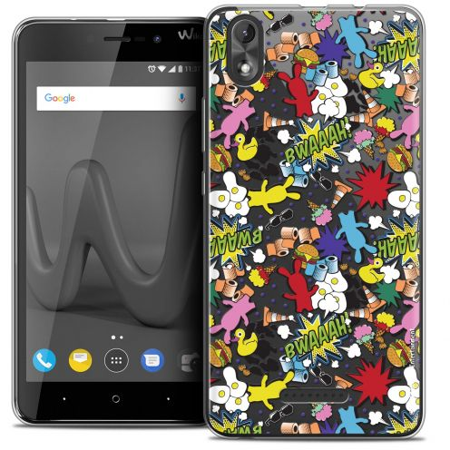"""Coque Gel Wiko Lenny 4 PLUS (5.5"""") Extra Fine Lapins Crétins™ - Bwaaah Pattern"""