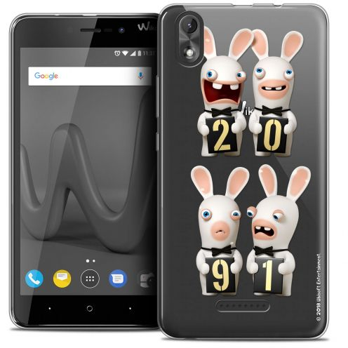 """Coque Gel Wiko Lenny 4 PLUS (5.5"""") Extra Fine Lapins Crétins™ - New Year"""