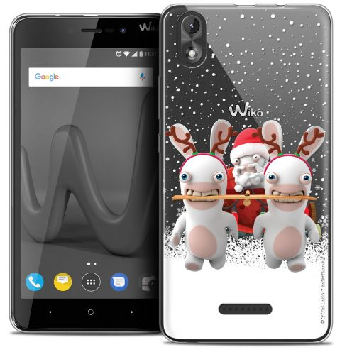 """Coque Gel Wiko Lenny 4 PLUS (5.5"""") Extra Fine Lapins Crétins™ - Lapin Traineau"""