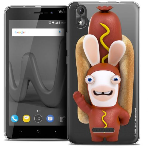 """Coque Gel Wiko Lenny 4 PLUS (5.5"""") Extra Fine Lapins Crétins™ - Hot Dog Crétin"""