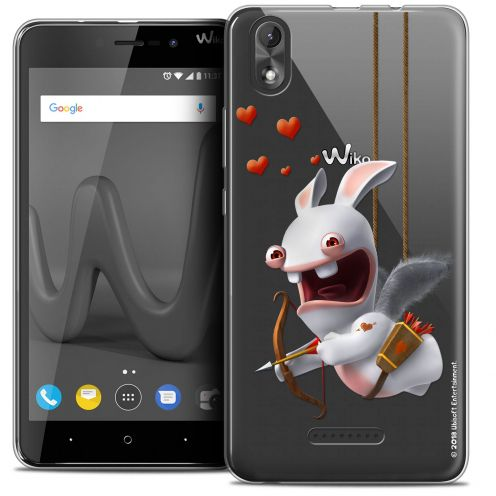 """Coque Gel Wiko Lenny 4 PLUS (5.5"""") Extra Fine Lapins Crétins™ - Flying Cupidon"""