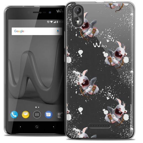 """Coque Gel Wiko Lenny 4 PLUS (5.5"""") Extra Fine Lapins Crétins™ - Cupidon Pattern"""