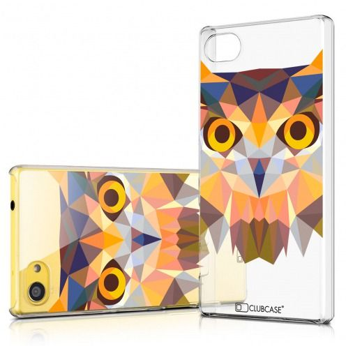 Zoom sur Coque Crystal Xperia Z5 Compact Extra Fine Polygon Animals - Hibou