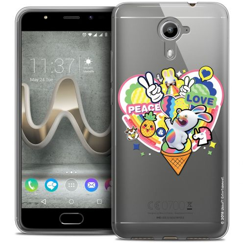 Coque Gel Wiko U Feel PRIME Extra Fine Lapins Crétins™ - Peace And Love
