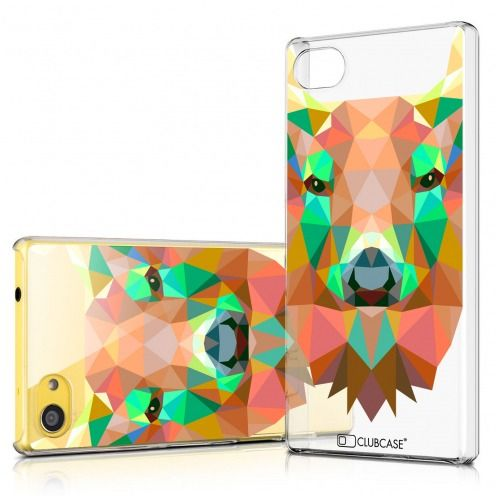 Coque Crystal Xperia Z5 Compact Extra Fine Polygon Animals - Cerf