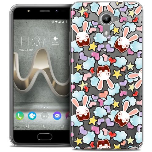 Coque Gel Wiko U Feel PRIME Extra Fine Lapins Crétins™ - Love Pattern