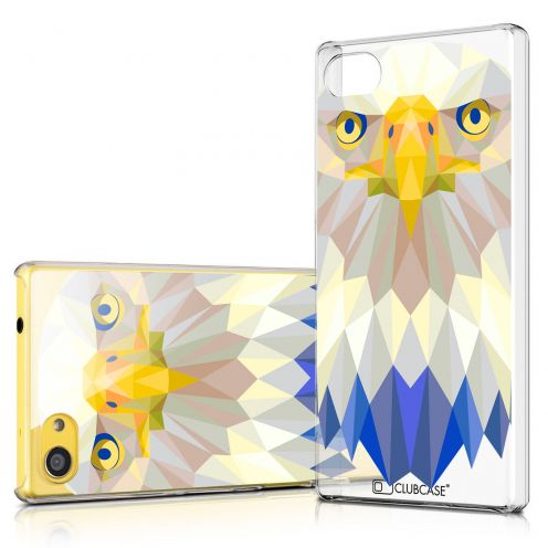 Zoom sur Coque Crystal Xperia Z5 Compact Extra Fine Polygon Animals - Aigle