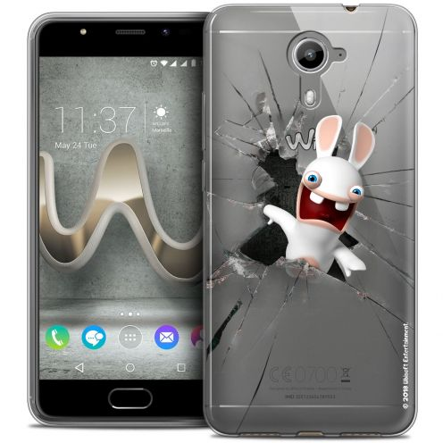Coque Gel Wiko U Feel PRIME Extra Fine Lapins Crétins™ - Breaking Glass