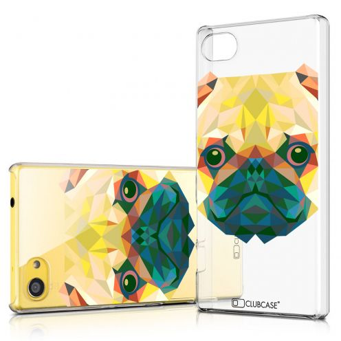 Zoom sur Coque Crystal Xperia Z5 Compact Extra Fine Polygon Animals - Chien