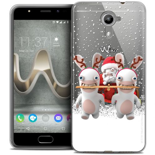 Coque Gel Wiko U Feel PRIME Extra Fine Lapins Crétins™ - Lapin Traineau