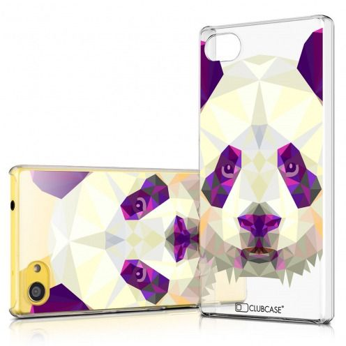 Zoom sur Coque Crystal Xperia Z5 Compact Extra Fine Polygon Animals - Panda