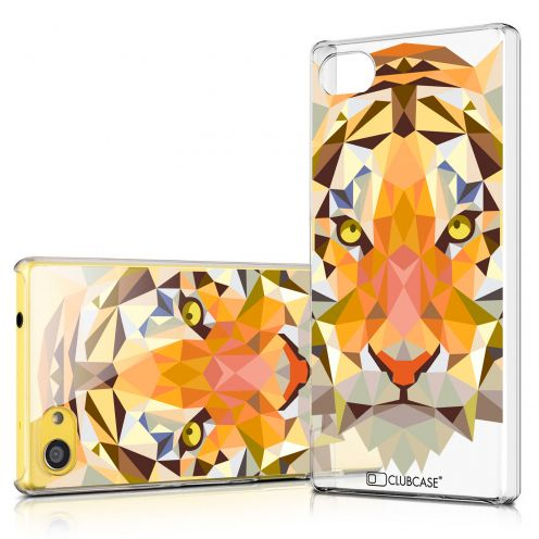 Zoom sur Coque Crystal Xperia Z5 Compact Extra Fine Polygon Animals - Tigre