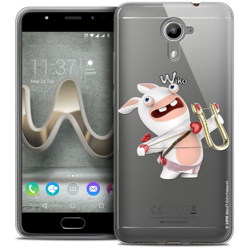 Coque Gel Wiko U Feel PRIME Extra Fine Lapins Crétins™ - Cupidon Crétin