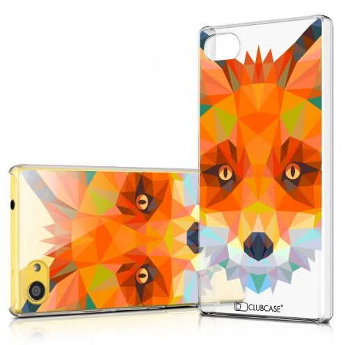 Zoom sur Coque Crystal Xperia Z5 Compact Extra Fine Polygon Animals - Renard