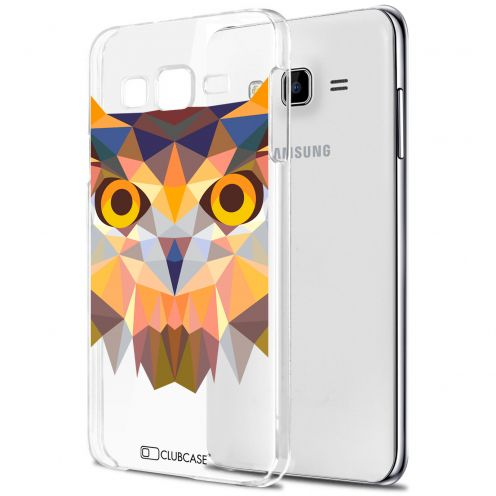 Zoom sur Coque Crystal Galaxy J5 (J500) Extra Fine Polygon Animals - Hibou