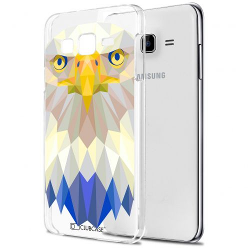 Zoom sur Coque Crystal Galaxy J5 (J500) Extra Fine Polygon Animals - Aigle