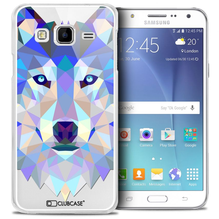 Visuel unique de Coque Crystal Galaxy J5 (J500) Extra Fine Polygon Animals - Loup