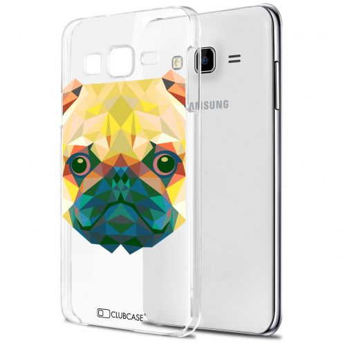 Zoom sur Coque Crystal Galaxy J5 (J500) Extra Fine Polygon Animals - Chien