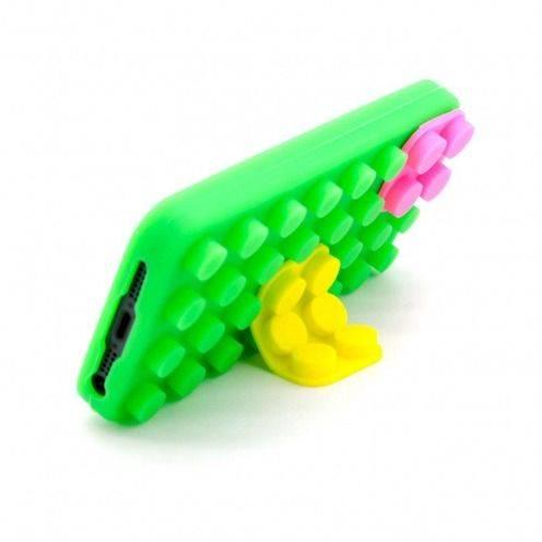 """Visuel supplémentaire de Coque Blocs Design """"LEGO"""" Verte, jaune et rose iPhone 5"""