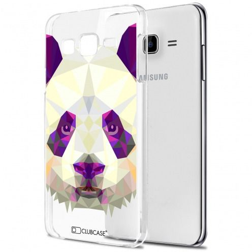 Zoom sur Coque Crystal Galaxy J5 (J500) Extra Fine Polygon Animals - Panda