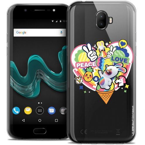 "Coque Gel Wiko Wim (5.5"") Extra Fine Lapins Crétins™ - Peace And Love"