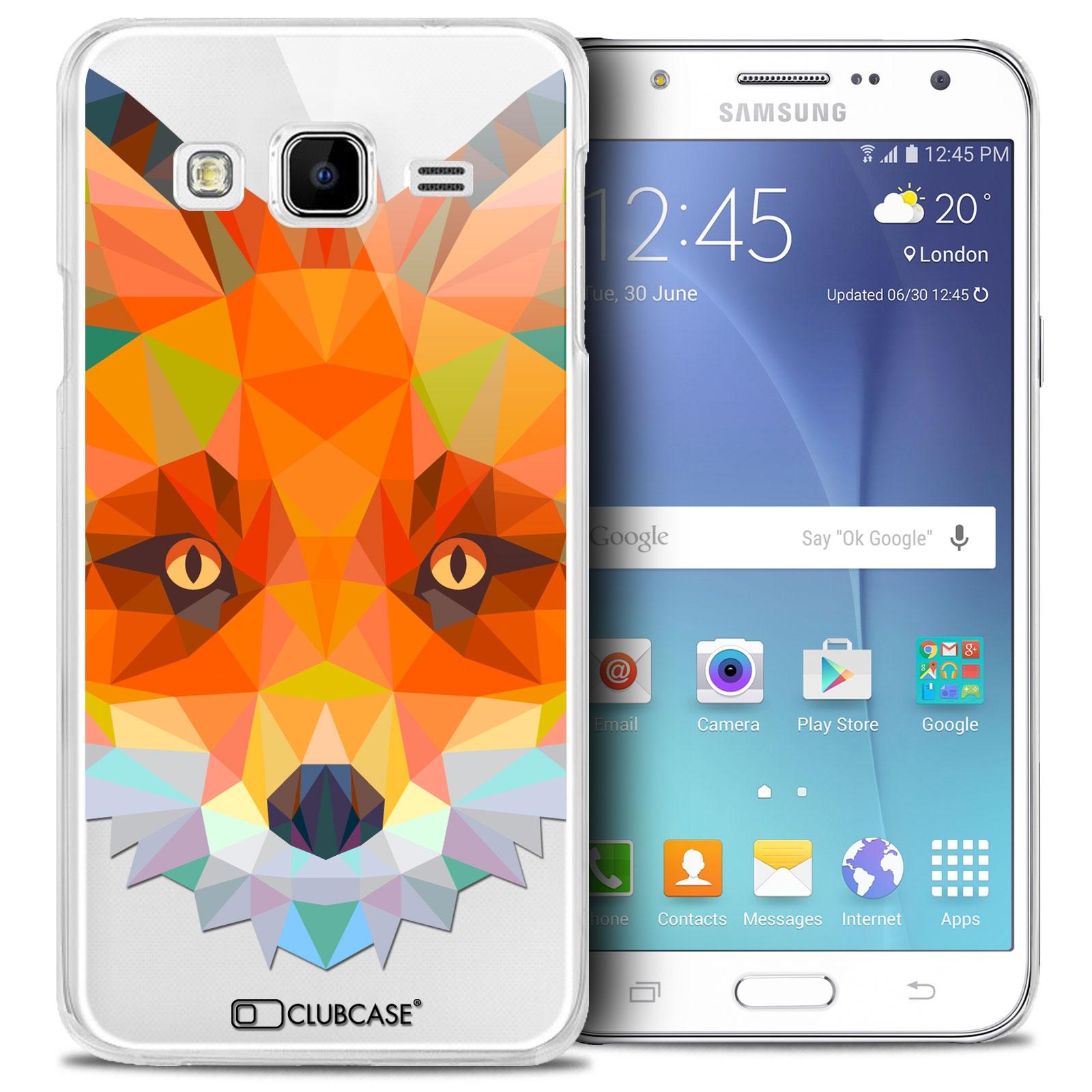 Coque Crystal Galaxy J5 (J500) Extra Fine Polygon Animals - Renard