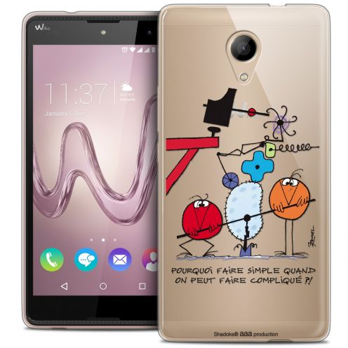 Coque Gel Wiko Robby Extra Fine Les Shadoks® - Pourquoi faire Simple