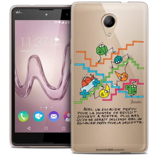Coque Gel Wiko Robby Extra Fine Les Shadoks® - L'escalier