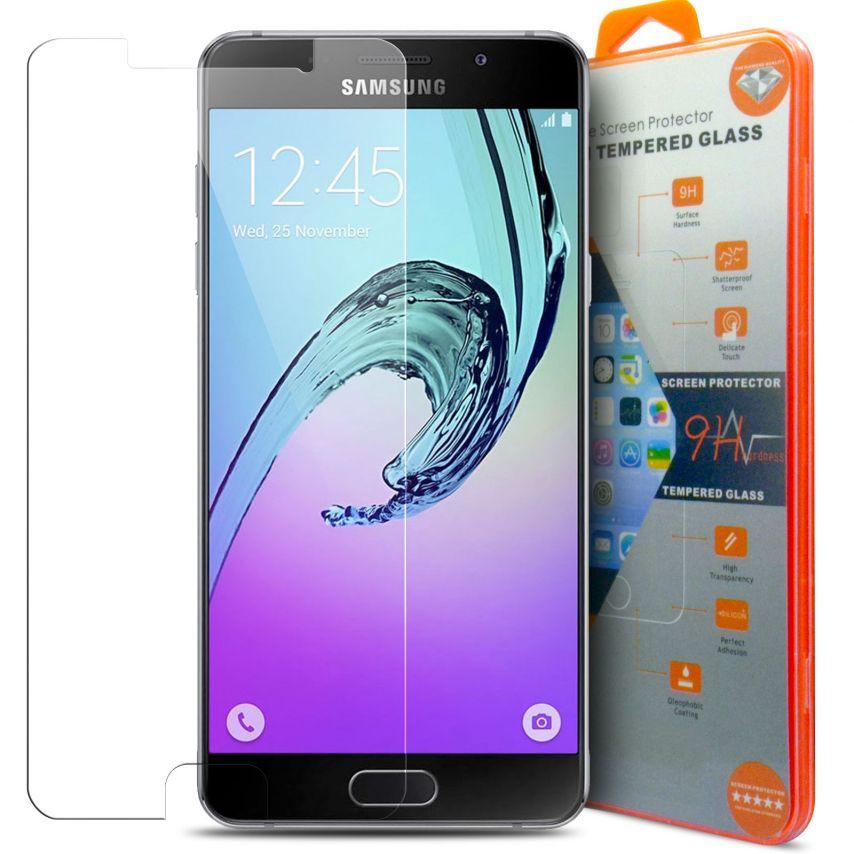 Vue détaillée de Protection d'écran Verre trempé Samsung Galaxy A7 (2016) - 9H Glass Pro+ HD 0.33mm 2.5D
