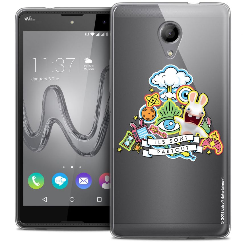 Coque Gel Wiko Robby Extra Fine Lapins Crétins™ - Ils Sont Tous Là !