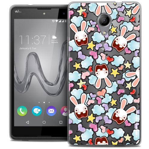 Coque Gel Wiko Robby Extra Fine Lapins Crétins™ - Love Pattern