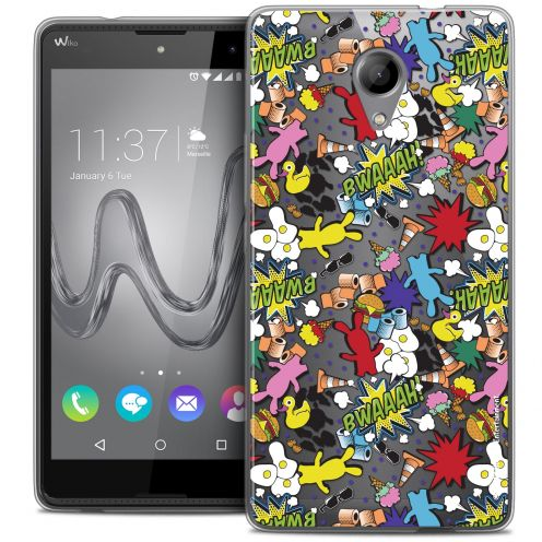 Coque Gel Wiko Robby Extra Fine Lapins Crétins™ - Bwaaah Pattern