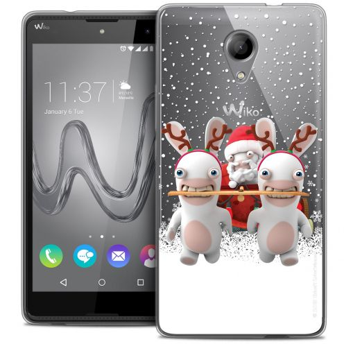 Coque Gel Wiko Robby Extra Fine Lapins Crétins™ - Lapin Traineau