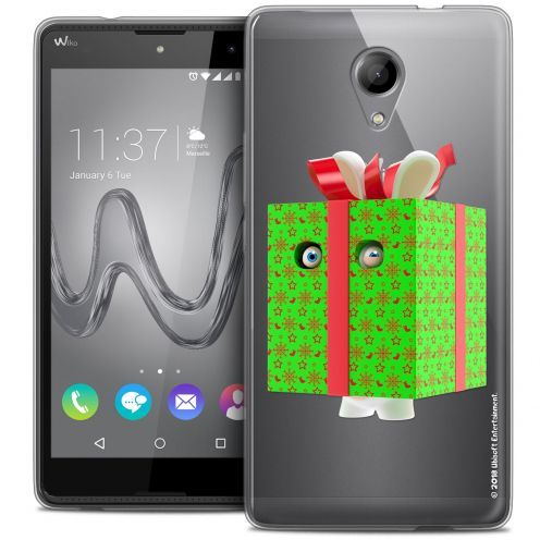 Coque Gel Wiko Robby Extra Fine Lapins Crétins™ - Lapin Surprise Vert
