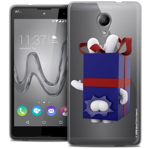 Coque Gel Wiko Robby Extra Fine Lapins Crétins™ - Lapin Surprise Bleu