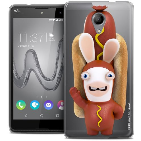 Coque Gel Wiko Robby Extra Fine Lapins Crétins™ - Hot Dog Crétin