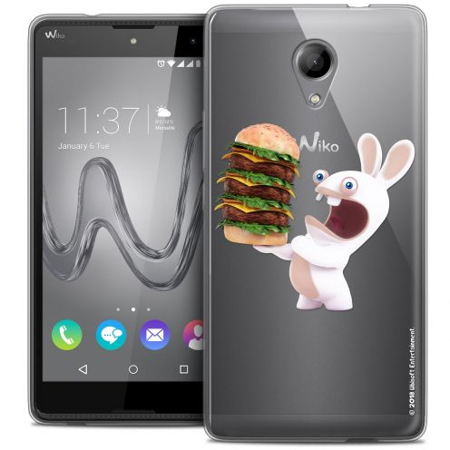 Coque Gel Wiko Robby Extra Fine Lapins Crétins™ - Burger Crétin